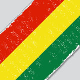 Bolivian grunge flag. Vector illustration. Royalty Free Stock Image