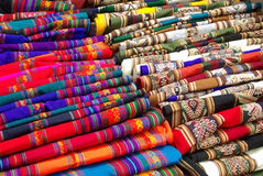 Bolivian handcrafted items. Artesania - Bolivian handcrafted items for sale - in Tarabuco's market, Bolivia Stock Photography