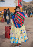 Bolivian lady. Carrying her baby Royalty Free Stock Photography