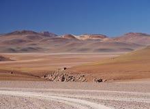 Bolivian Landscape. Bolivia, Potosi Departmant, Sur Lipez Province, Landscape of the Eduardo Avaroa Andean Fauna National Reserve Stock Image