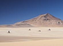 Bolivian Landscape. Bolivia, Potosi Departmant, Sur Lipez Province, Eduardo Avaroa Andean Fauna National Reserve, Landscape of the Dali Desert Royalty Free Stock Photos