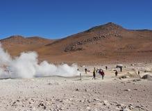 Bolivian Landscape. Bolivia, Potosi Departmant, Sur Lipez Province, Eduardo Avaroa Andean Fauna National Reserve, Landscape of the Geisers Sol de Manana Royalty Free Stock Photo