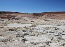 Bolivian Landscape. Bolivia, Potosi Departmant, Sur Lipez Province, Eduardo Avaroa Andean Fauna National Reserve, Landscape of the Geisers Sol de Manana Royalty Free Stock Images