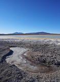 Bolivian Landscape. Bolivia, Potosi Departmant, Sur Lipez Province, Eduardo Avaroa Andean Fauna National Reserve, Landscape of the Hedionda Lagoon Royalty Free Stock Image
