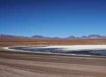 Bolivian Landscape. Bolivia, Potosi Departmant, Sur Lipez Province, Eduardo Avaroa Andean Fauna National Reserve, Landscape of the Kollpa Lagoon Royalty Free Stock Photo