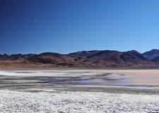 Bolivian Landscape. Bolivia, Potosi Departmant, Sur Lipez Province, Eduardo Avaroa Andean Fauna National Reserve, Landscape of the Laguna Colorada Stock Photography