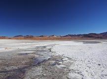Bolivian Landscape. Bolivia, Potosi Departmant, Sur Lipez Province, Eduardo Avaroa Andean Fauna National Reserve, Landscape of the Laguna Colorada Royalty Free Stock Photography