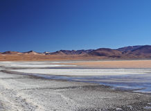 Bolivian Landscape. Bolivia, Potosi Departmant, Sur Lipez Province, Eduardo Avaroa Andean Fauna National Reserve, Landscape of the Laguna Colorada Royalty Free Stock Images