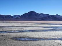 Bolivian Landscape. Bolivia, Potosi Departmant, Sur Lipez Province, Eduardo Avaroa Andean Fauna National Reserve, Landscape of the Laguna Colorada Stock Images