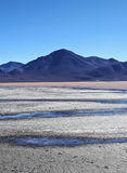 Bolivian Landscape. Bolivia, Potosi Departmant, Sur Lipez Province, Eduardo Avaroa Andean Fauna National Reserve, Landscape of the Laguna Colorada Stock Photo