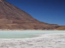 Bolivian Landscape. Bolivia, Potosi Departmant, Sur Lipez Province, Eduardo Avaroa Andean Fauna National Reserve, Landscape of the Laguna Verde Stock Photo