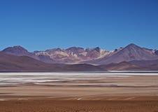 Bolivian Landscape. Bolivia, Potosi Departmant, Sur Lipez Province, Eduardo Avaroa Andean Fauna National Reserve, Landscape of the Salar de Chalviri Royalty Free Stock Image