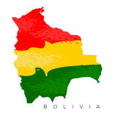 Bolivian map Stock Photo