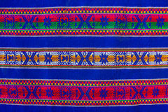Bolivian pattern. Blue national pattern of bolivian indigenous peoples Stock Image