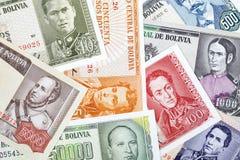 Bolivian Pesos, a background Stock Image