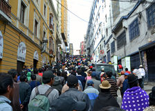 Bolivian Protest Royalty Free Stock Photo
