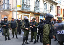 Bolivian Riot Police Stock Photos