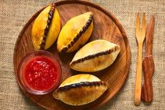 Bolivian Saltenas Meat Pastries Stock Photos