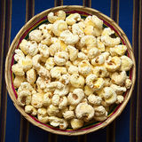 Bolivian Snack Pasancalla (Sweetened Popped White Corn) Royalty Free Stock Photo