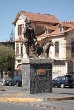 Bolivian soldier monument in La Paz Stock Image
