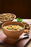 Bolivian Sopa de Mani (Erdnuss-Suppe) stockfotos