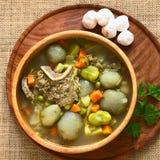 Bolivian Soup Chairo de Tunta Stock Image