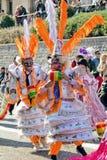 Bolivian team dancers in carnival Stock Photo