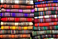 Bolivian traditional fabrics Stock Photo