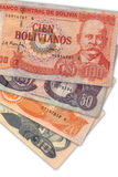 bolivian valuta Fotografering för Bildbyråer