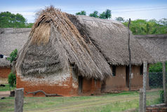 Bolivian village. Huts in Bolivian poor village Royalty Free Stock Photography