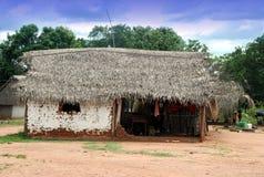 Bolivian village. Huts in Bolivian poor village Royalty Free Stock Photos