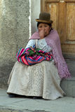 Bolivian Woman. On the market of Potosi. South America Stock Images