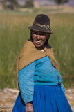 Bolivian woman - Lake Titicaca in Bolivia Stock Images