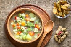 Bolivianer Sopa De Mani Peanut Soup lizenzfreies stockfoto
