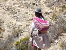Bolivianische Frau Stockfoto