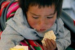 Bolivianische Kinder stockbild