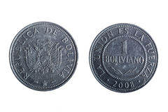 Bolivianische Pesomünze Lizenzfreie Stockbilder