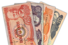 Bolivianisches Bargeld Stockfotos