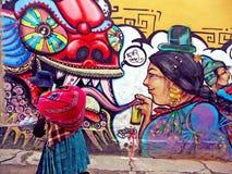 Boliviano Cholita fotografia stock