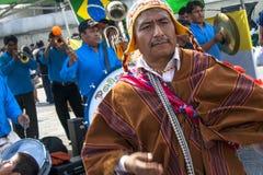 Bolivianska invandrare Arkivbild