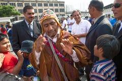 Bolivianska invandrare Arkivbilder