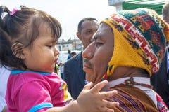 Bolivianska invandrare Royaltyfri Fotografi
