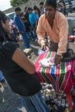 Bolivianska invandrare firar Ekeko, gud av överflöd, i Brasilien Royaltyfria Foton
