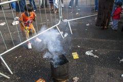 Bolivianska invandrare firar Ekeko, gud av överflöd, i Brasilien Arkivfoton