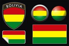 Bolivien-Markierungsfahne Stockbilder