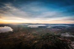 Bolivien Salar de Uyuni Aerial Stockfotos