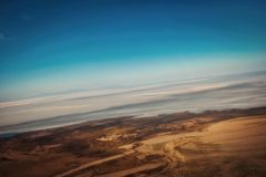 Bolivien Salar de Uyuni Aerial Lizenzfreies Stockbild