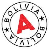 Bolivien-Stempelgummischmutz Stockfotos