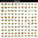 Boliwia flaga, wektorowa ilustracja Zdjęcia Royalty Free