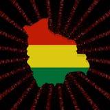 Boliwia mapy flaga na czerwonej hex kodu wybuchu ilustraci Zdjęcia Royalty Free